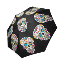 InterestPrint Stylish Mexican Cool Sugar Skull Print foldable Umbrella