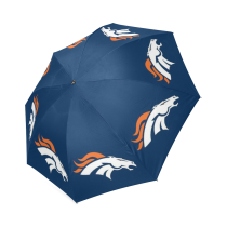 InterestPrint Stylish Cool Horse Blue Foldable Umbrella