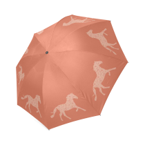 InterestPrint Stylish Pink Horse Foldable Umbrella