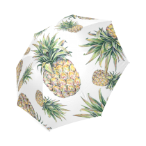 InterestPrint Hipster Pineapple Hawaiian Summber Fruit Foldable Umbrella