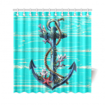 InterestPrint Nautical Anchor Custom Shower Curtain Waterproof Polyester Fabric Bathroom Sets Home Decor