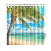 InterestPrint Tropical Summer Beach Custom Shower Curtain Polyester Fabric Bathroom Sets Home Decor