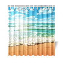 InterestPrint Coast of Beach Custom Shower Curtain Polyester Fabric Bathroom Sets Home Decor