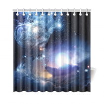 InterestPrint Fantasy Space Nebula Custom Shower Curtain Polyester Fabric Bathroom Sets Home Decor