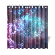 InterestPrint Galaxy Space Nebula Custom Shower Curtain Polyester Fabric Bathroom Sets Home Decor
