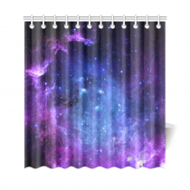 InterestPrint Starfield Galaxy Custom Shower Curtain Polyester Fabric Bathroom Sets Home Decor