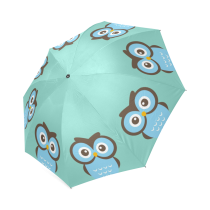 InterestPrint Hipster Owl Bird Foldable Umbrella