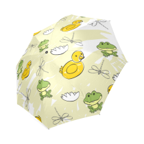InterestPrint Stylish Frog Foldable Umbrella