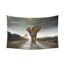 InterestPrint African Decorations Art Collection, Elephant Picture Painting Effect Nature Artwork Prints Cotton Linen Tapestry Wall Hanging Art Sets