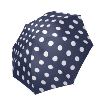 InterestPrint Stylish Polka Dot Blue Foldable Umbrella