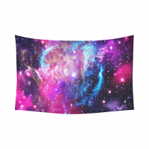 InterestPrint Cosmos Cosmic Background Wall Art Home Decor, Abstract Nature Universe Galaxy Nebula in Deep Outer Space Bule Purple Pink  Cotton Linen Tapestry Wall Hanging Art Sets