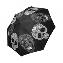 InterestPrint Stylish Sugar Skull Foldable Travel Fashion Umbrella