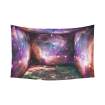 InterestPrint Cosmos Cosmic Background Wall Art Home Decor, Universe Galaxy Space Nebula Purple Pink Cotton Linen Tapestry Wall Hanging Art Sets