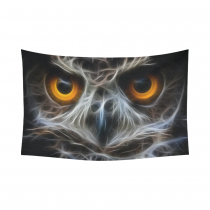 InterestPrint Abstract Wall Art Home Decor, Animal Owl Night Owl Cotton Linen Tapestry Wall Hanging Art Sets