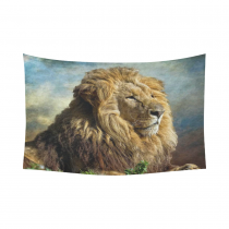 InterestPrint African Animal Wall Art Home Decor, The Lion King Cotton Linen Tapestry Wall Hanging Art Sets