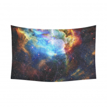 InterestPrint Cosmos Cosmic Background Wall Art Home Decor, Universe Stars Field Cotton Linen Tapestry Wall Hanging Art Sets