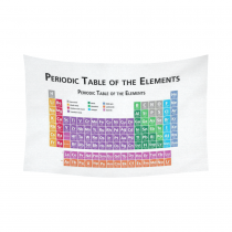 InterestPrint Family Education Wall Art Home Decor, Periodic Table of Elements Cotton Linen Tapestry Wall Hanging Art Sets