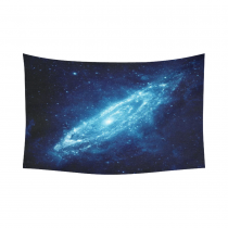 InterestPrint Blue Spiral Stardust Galaxy Tapestry Wall Hanging Astronomy Space Wall Decor Art for Living Room Bedroom Dorm Cotton Linen Decoration
