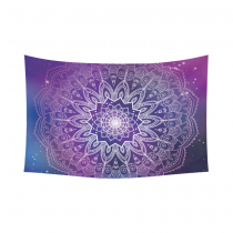 InterestPrint Tribal Hippie Buddhist Henna Purple Mandala Tapestry Wall Hanging Blacklight Trippy Bohemian Boho Batik Wall Decor Art Cotton Linen for Home Decoration