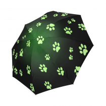 InterestPrint Paw Animal Print Foldable Travel Rain Umbrella