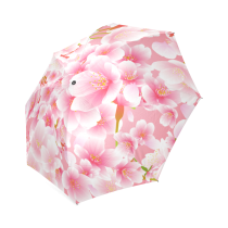 InterestPrint Stylish Cherry Blossom Foldable Rain Umbrella