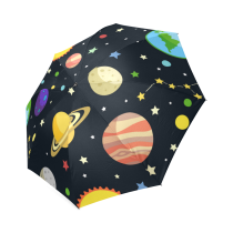 InterestPrint Stylish Galaxy Space Starry Sky Universe Solar System Foldable Umbrella