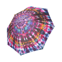 InterestPrint Stylish Tie Dye Foldable Umbrella