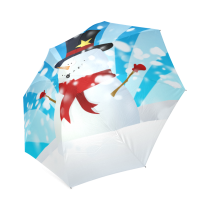 InterestPrint Stylish Snowman Foldable Rain Umbrella