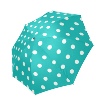 InterestPrint Turquoise Polka Dot Foldable Umbrella