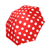 InterestPrint Stylish Red Polka Dot Foldable Umbrella