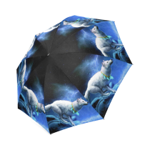 InterestPrint Stylish Fantasy Wolf Dream Catcher Foldable Umbrella