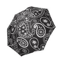InterestPrint Stylish Paisley Flower Pattern Foldable Rain Umbrella