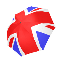 InterestPrint Stylish Union Jack UK British Flag Foldable Umbrella
