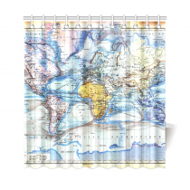 InterestPrint World Map Custom Shower Curtain Polyester Fabric Bathroom Sets Home Decor