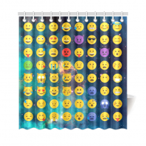 InterestPrint Emoji Galaxy Custom Home Decor Polyester Fabric Shower Curtain Bathroom Sets