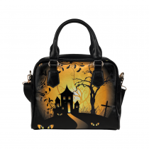 InterestPrint Halloween Women's PU Leather Aslant Shoulder Tote Handbag Bag