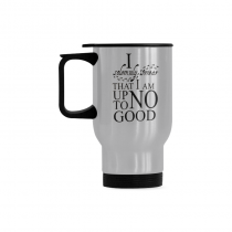 InterestPrint Custom  I Solemnly Swear That I Am Up To No Good Quotes 14oz Funny Silver Stainless Steel Travel Water Coffee Mug Cup, Birthday Gift for Men Women Mom Dad Husband Wife Girl