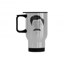 InterestPrint Kitchen & Dining Funny Quote Ron Swanson Stainless Steel Travel Mug Bottle-Silver-14 oz-Ron Swanson Quote-When People Get A Little Too Chummy with Me