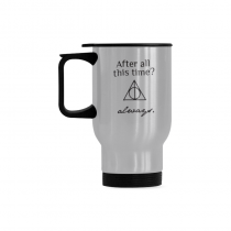 InterestPrint Kitchen & Dining Love You Forever Stainless Steel Travel Mug Bottle-Silver-14 oz-After All This Time? Always.