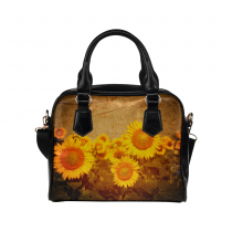 InterestPrint Vintage Sunflower Women's PU Leather Purse Handbag Shoulder Bag