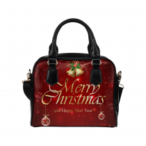 InterestPrint Red Starry Merry Christmas Women's PU Leather Purse Handbag Shoulder Bag