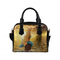 InterestPrint Princess Mermaid Ghost Ship Women's PU Leather Purse Handbag Shoulder Bag