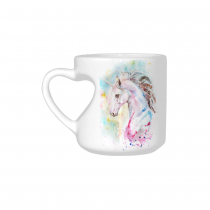 InterestPrint White Ceramic Colorful Magic Unicorn Animal Horse Heart-shaped Travel Coffee Mug Cup with Sayings, Best Friends Friendship Mom Funny Unique Birthday Thanksgiving Gifts