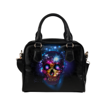 InterestPrint Sugar Skull Halloween Women's PU Leather Shoulder Bag Handbag Purse