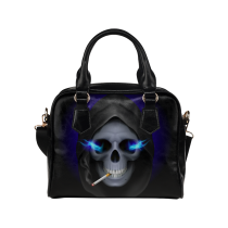 InterestPrint Sugar Skull Women's And Girl's PU Leather Aslant Shoulder Handbag Bag Purse