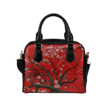 InterestPrint Famous Painting Women's PU Leather Shoulder Bag Handbag Purse