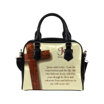 InterestPrint Bible Verse Women's PU Leather Shoulder  Bag Handbag Purse