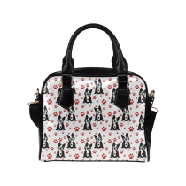 InterestPrint Dog Paw Cat Women's PU Leather Bag Handbag Purse