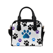 InterestPrint Cute Paw Print Women's PU Leather Bag Handbag Purse