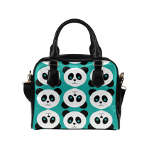 InterestPrint Hipster Panda Women's PU Leather Shoulder Bag Handbag Purse